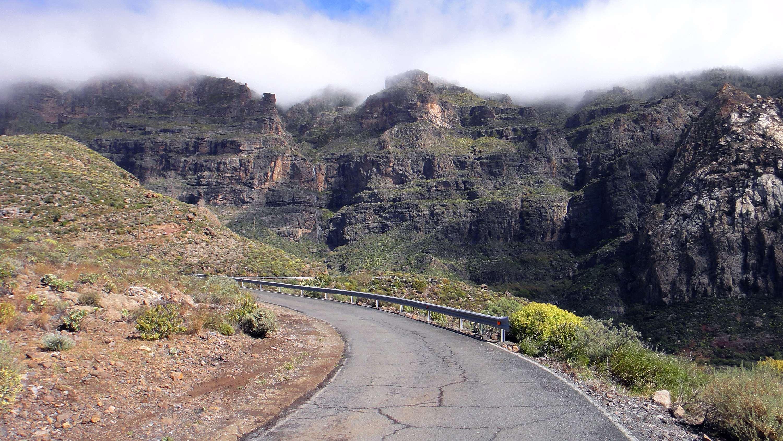 summit in the clouds in Gran Canaria