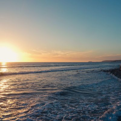 Maspalomas beach. Sunset